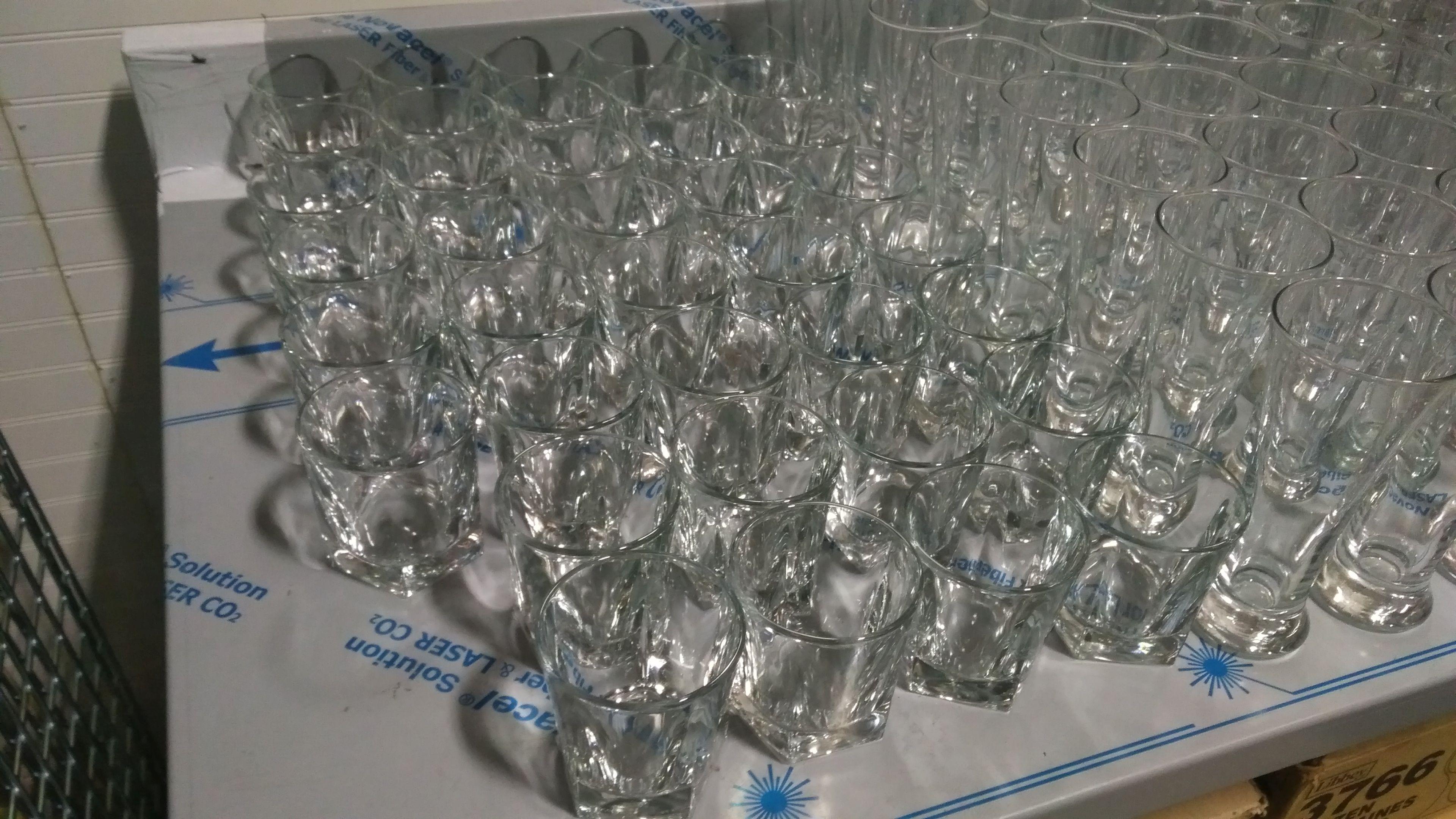 Lot 17 - Libbey Half Size DuraTuff Cooler Glasses - Lot of 43
