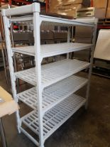 "Lot 3 - Cambro CamShelf - 5 Shelf Rack 20"" x 48"" x 64"" High"