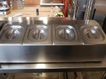 Lot 10 - Stainless 4 Compartment 1/6 Size Insert Holder with Inserts & Lids