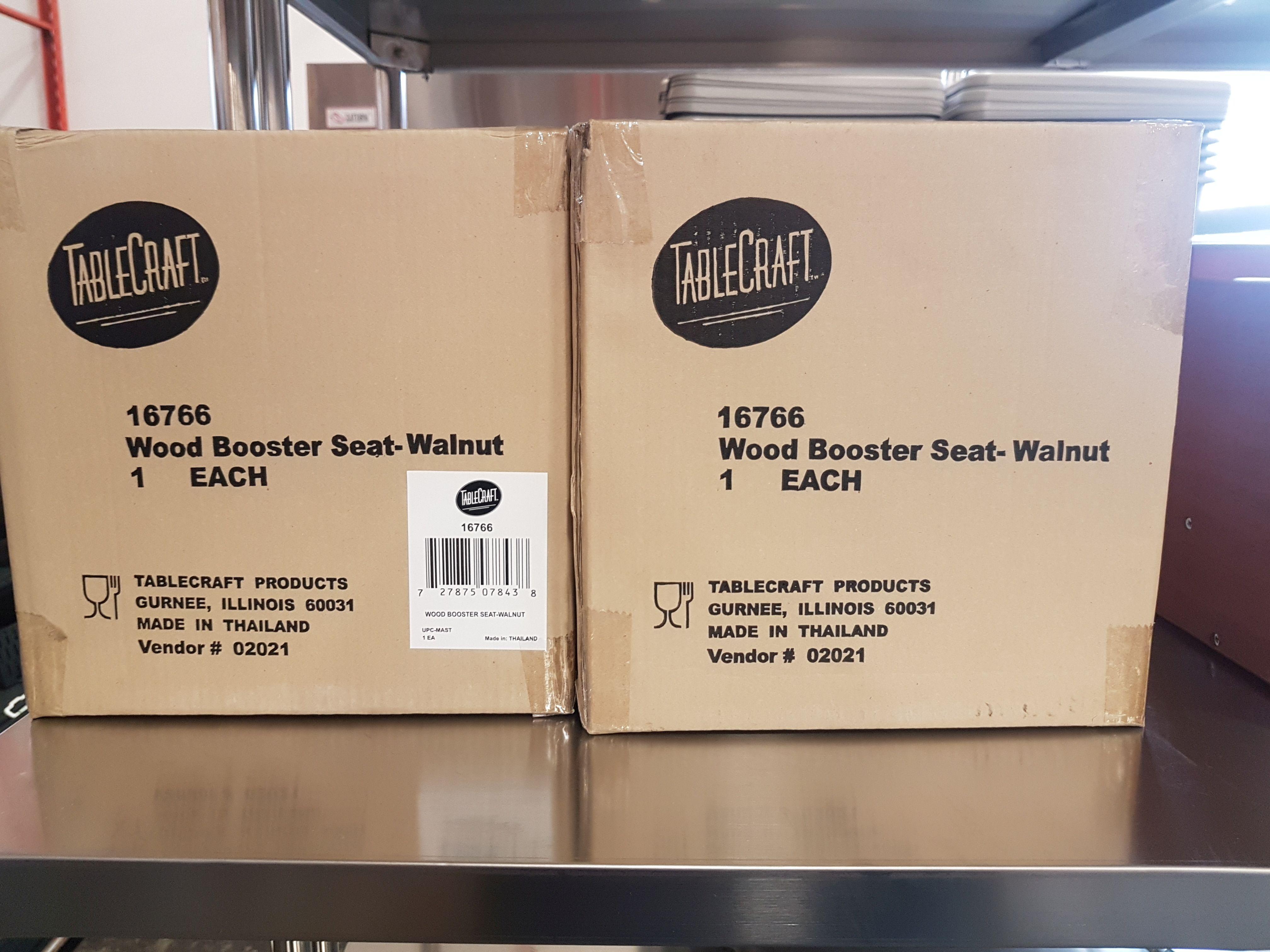 Lot 15 - Wood Booster Seats - Walnut - Lot of 3
