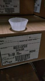 """Lot 57 - White Baking Cups, 2"""" x 4.5"""" x 1.25"""" - Lot of 5000"""