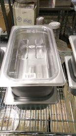 Lot 18 - Stainless 1/3 Insert With Cambro 30CWCH Lid - Lot of 2 (4 Pieces)