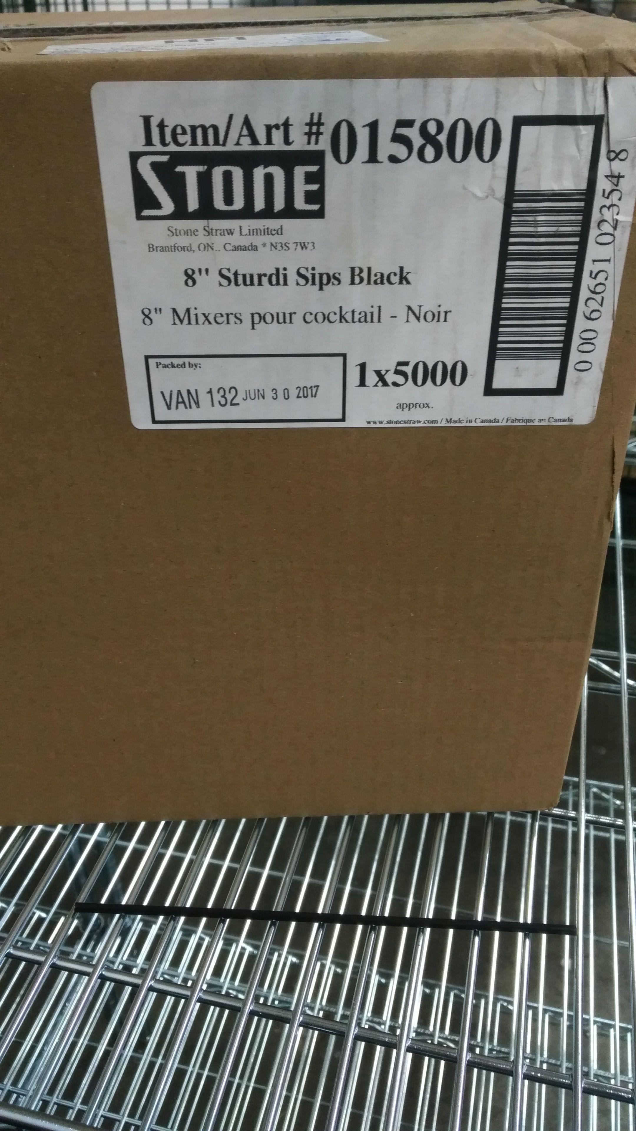 "Lot 31 - Stone 8"" Sturdi Cocktail Sips - Lot of 5000"