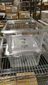 """Lot 5 - Cambro 1/2 Size 6"""" Deep Food Pan with Lid - Lot of 2 (4 pcs)"""