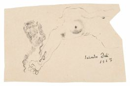 Salvador Dalí (Figueres, 1904 - 1989) Ink drawing on paper. Signed and dated in 1927. This is a