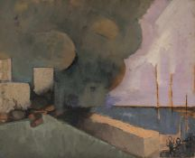 Alfred Reth (Budapest, 1884 - Paris, 1966) Oil and sand on panel. Circa 1930. Provenance: Michel
