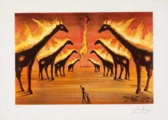 Salvador Dalí (Figueres, 1904 - 1989) Lithograph. Signed in pencil and numbered 19/300. 54,5 x 75