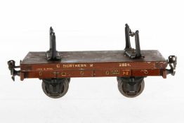 Märklin englischer Holzwagen 2884 GNR, S 1, CL, 1 seitliches Rahmenblech fehlt, LS, L 21, bespielt