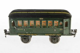 Märklin Personenwagen 1902, S 1, HL, 4 AT, 2A, ohne Inneneinrichtung, 1 Türgriff fehlt, Alterungs-