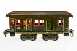 Märklin Post-/Gepäckwagen 1844, S 1, uralt, HL, mit Diensteinrichtung, 4 AT, 4 ST, 2 DT und