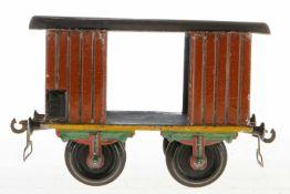 Märklin Packwagen 1803, S 2, uralt, HL, fremde Radsätze, 1 Achslagerblende fehlt, Alterungsspuren, L