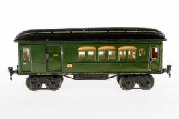 Märklin Post-/Gepäckwagen 1895, S 1, HL, mit Inneneinrichtung, 2 ST und 2 AT, LS und gealterter