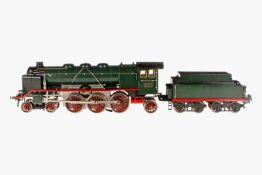 Märklin 2-C-1 Dampflok HR 66/13021, mit 4A Tender, S 1, elektr., 2 el. bel. Stirnlampen, kW, grün