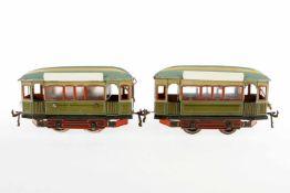 Bing Straßenbahn mit Anhänger, S 1, uralt, elektr., CL, mit el. bel. Stirnlampe und