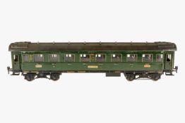 Märklin Personenwagen 1941 G, S 1, grün HL, 4 AT, 4A Gussräder, mit Inneneinrichtung, 1