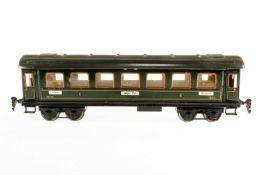 Märklin Personenwagen 1841, S 1, grün, mit 4 AT, Dachscharniere ersetzt, LS und gealterter Lack, 1