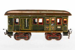Märklin Post-/Gepäckwagen 1844, S 1, uralt, HL, mit Inneneinrichtung, 4 ST, 2 DT, 4 AT und