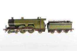 Bassett-Lowke 2-B-1 Dampflok 1442 GNR, S 1, elektr., grün/schwarz HL, mit Tender und je 1 seitl.
