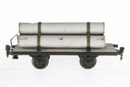 Märklin Gasröhrenwagen 1993, S 1, HL, 1 Röhre eingedrückt, LS und gealterter Lack, L 24, Z 2-3