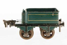 Bing Tender, S 1, uralt, grün HL, für erste A-1 Dampflok 9651, altersbedingte LS, leicht besch., L