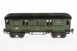 Märklin Postwagen 1869, S 1, HL, mit 4 AT, LS tw ausgebessert, gealterter Lack, L 33,5, sonst noch Z