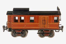 Märklin Gepäckwagen 1846, S 1, uralt, HL, mit Inneneinrichtung, 2 AT, 2 x 2 ST, 4A und 2 imit.