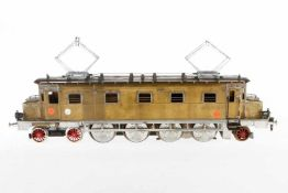 Feucht/Hoppler 2-D-1 E-Lok Ae 4/7, S 1, elektr., Messing, um 1960, Kundenauftrag wurde durch Herrn