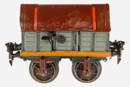Märklin Klappdeckel-Zement-Wagen 1815, S 1, uralt, HL, L 13, Z 2