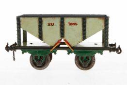 Bing Kohlenwagen 13668, S 1, uralt, HL, tw nachlackiert, LS und gealterter Lack, L 19,5, Z 3