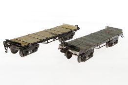 2 Märklin Rungenwagen 1953 und 2933, S 1, HL, NV, LS, L 28 und 31, bespielt