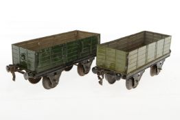 2 Märklin Güterwagen, S 1, HL, NV, LS, L 19,5, bespielt