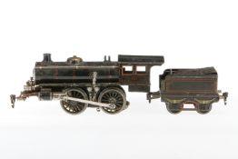 Märklin B-Dampflok 2588, S 1, Starkstrom, schwarz, mit Tender und 2 el. bel. Stirnlampen, LS,