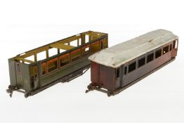 2 Märklin Wagenfragmente 1886, S 1, L 33
