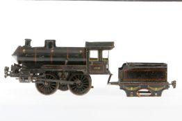 Märklin B-Dampflok, S 1, elektr., HL, mit Tender und 2 el. bel. Stirnlampen, NV, LS, als Ersatzteil