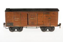 Märklin gedeckter Güterwagen 1926, S 1, HL, mit 2 ST, Schwarzbereich rest., LS, L 31, bespielt