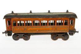 Bing Personenwagen, S 1, CL, mit 4 AT und Märklin Kupplungen, NV, L 34, zum Herrichten