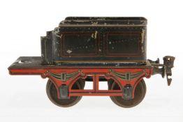 Märklin Tender, S 1, uralt, schwarz, mit Volleisenrädern, LS, L 14, bespielt
