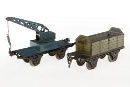 2 Märklin Güterwagen, S 1, HL, NV, bespielt
