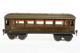 Märklin Personenwagen 1888, S 1, CL, mit Inneneinrichtung und 4 AT, Trittstufen fehlen, Puffer