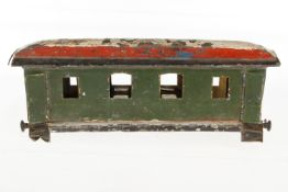 Märklin Kaiser-Speisewagenfragment 1842 K, S 1, uralt, mit Inneneinrichtung und 4 AT, NV und