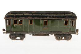 Märklin Gepäckwagen 1889, S 1, CL, mit 4 AT und 2 ST, Dach ersetzt, LS, NV, L 33, bespielt