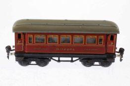 Märklin Mitropa Schlafwagen 1886, S 0, CL, LS/RS, gealterter Lack, L 21,5, Z 3