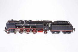 Märklin 2-C-1 Dampflok HR 66/12920, S 0, elektr., schwarz, mit Tender und 2 el. bel. Stirnlampen,