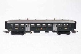 Märklin schweizer Personenwagen 348/1, S H0, Blech, grün, LS, L 21, OK, Z 2-3