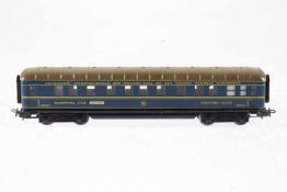 Märklin int. Schlafwagen 346/3 J, S H0, Blech, blau, Alterungsspuren, L 20,5, OK, Z 2