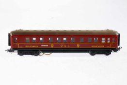 Märklin DSG Schlafwagen 346/3, S H0, Blech, rot, LS, L 20,5, OK, Z 2