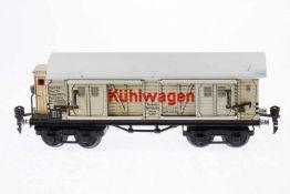 Märklin Kühlwagen 1857, S 0, CL, mit BRH und 4 STH, Trittbretter verbogen, Dach nachlackiert, LS und