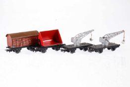 4 Märklin Güterwagen, S H0, Blech, LS, L 8,5, bespielt