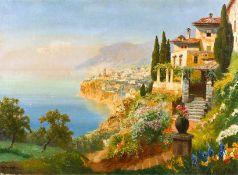 Arnegger, Alois (Wien, 1879-1963) Italienische Küste bei Sorrent Blick von hochgelegenem Steinhaus