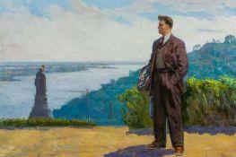 Artamonov, Alexei (geb. 1918) Der Dichter Vladimir Mayakovski (1893-1930) auf Anhöhe über dem